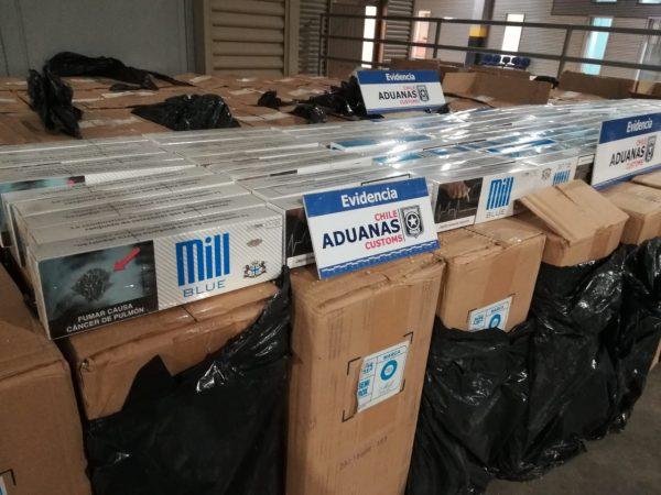 Aduanas incauta más de 38 mil cajetillas de cigarrillos ilegales en Arica