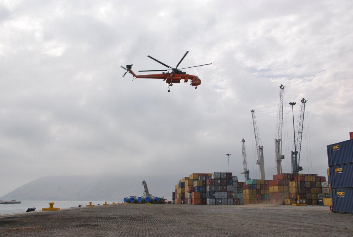 Helicóptero cisterna más grande del mundo será embarcado en ITI