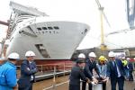 Realizan botadura del MSC Bellissima en astillero STX France