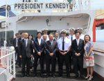 Buque President Kennedy de APL realiza su recalada inaugural en Puerto Yokohama