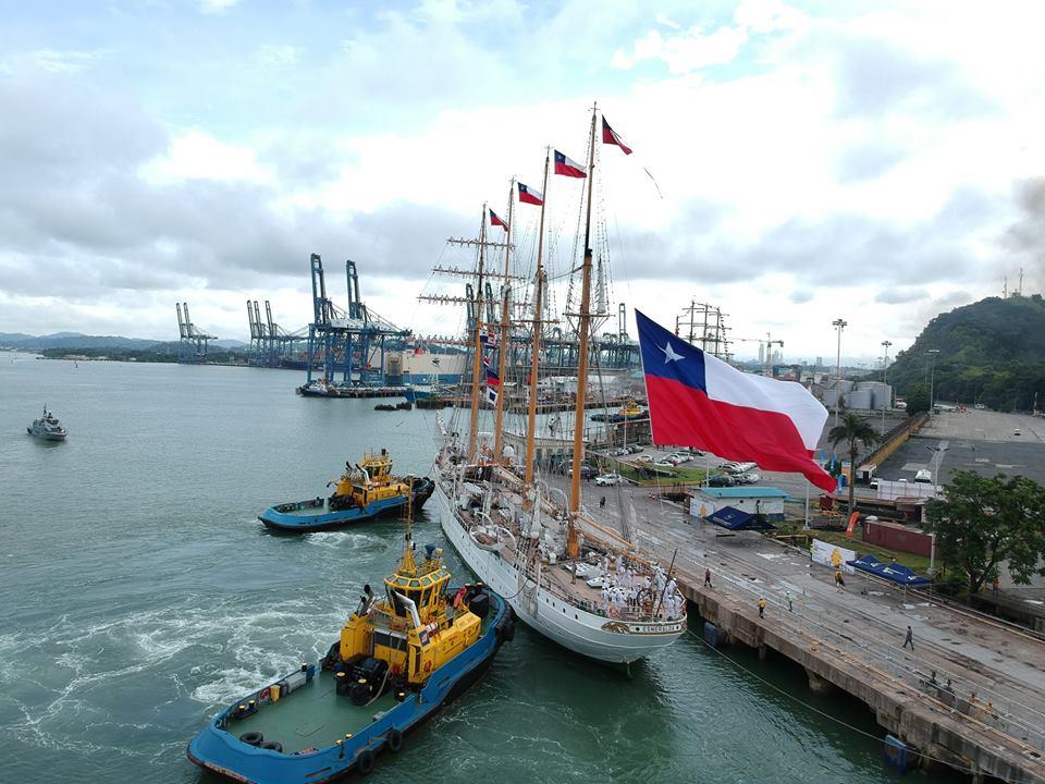 La llegada de la Esmeralda al Puerto de Balboa