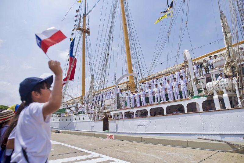 Esmeralda llega al Puerto de Cartagena en Colombia