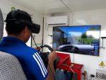 Con un simulador en el Antepuerto de Arica capacitan en seguridad vial a conductores bolivianos