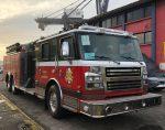 Carro de bomberos más moderno de Chile arriba al Puerto de San Antonio