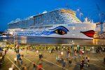 Realizan botadura del crucero AIDAnova en astillero Meyer Werft