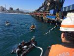 Investigan derrame derrame de IFO-380 causado en faenas de Enex en sitio 3 de Puerto Ventanas