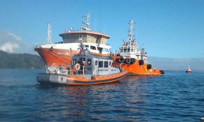 Salmones descompuestos del Wellboat Seikongen no serán descargados en Talcahuano