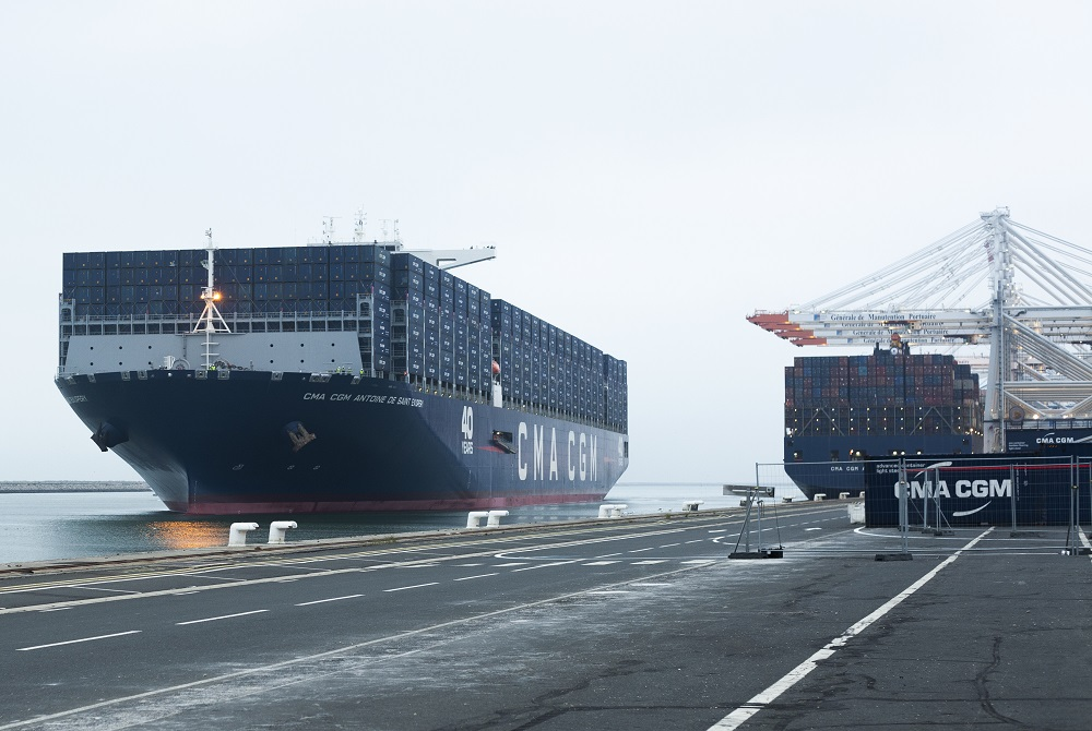 CMA CGM inaugura oficialmente su mega buque de 20.600 TEUs
