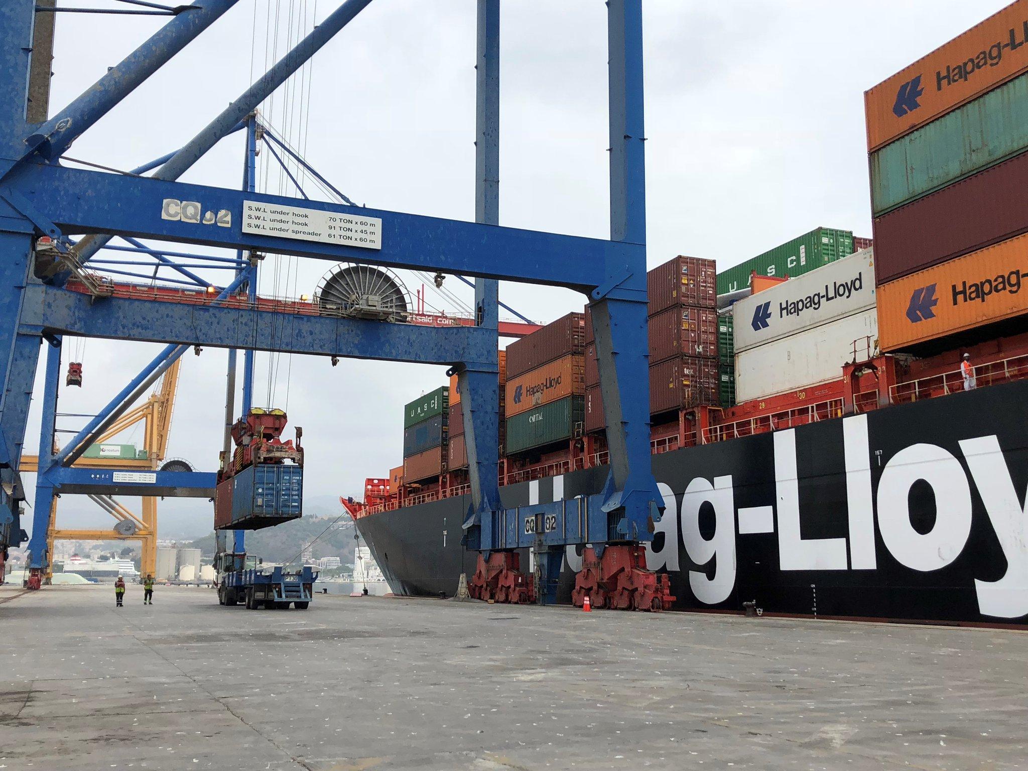 Inicia el servicio de Hapag-Lloyd que conectará semanalmente los puertos de Málaga y Montreal
