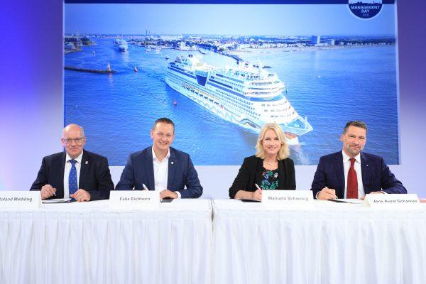Alemania: AIDA Cruises se compromete a desarrollar un turismo de cruceros sustentable en Puerto de Rostock