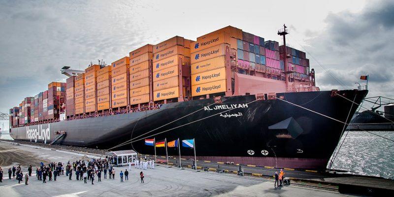 Nuevo buque de 15.000 TEUs de Hapag-Lloyd es bautizado en el Puerto de Rotterdam