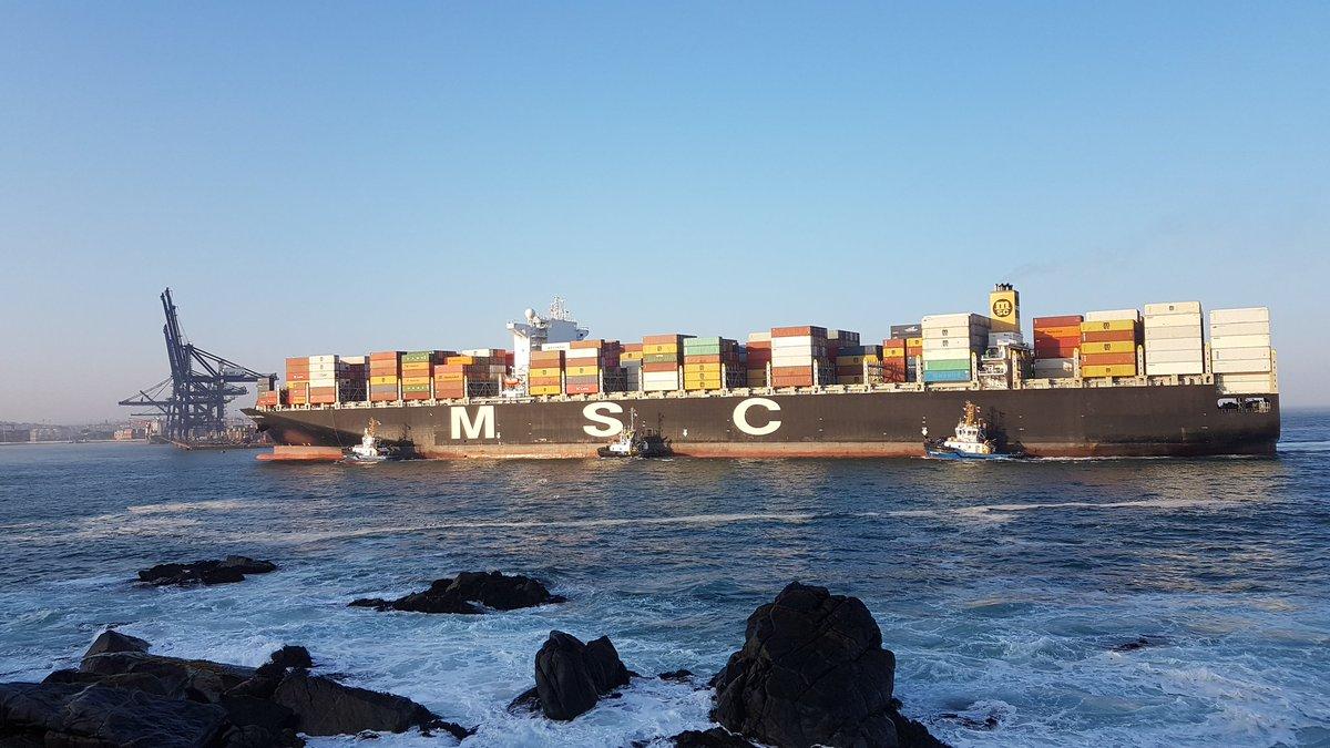 MSC Flavia retorna al Puerto de San Antonio