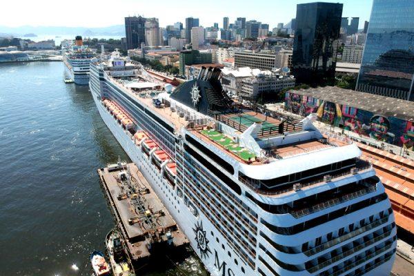 Puertos brasileños recibirán cerca de 600 escalas de cruceros durante temporada 2018/2019