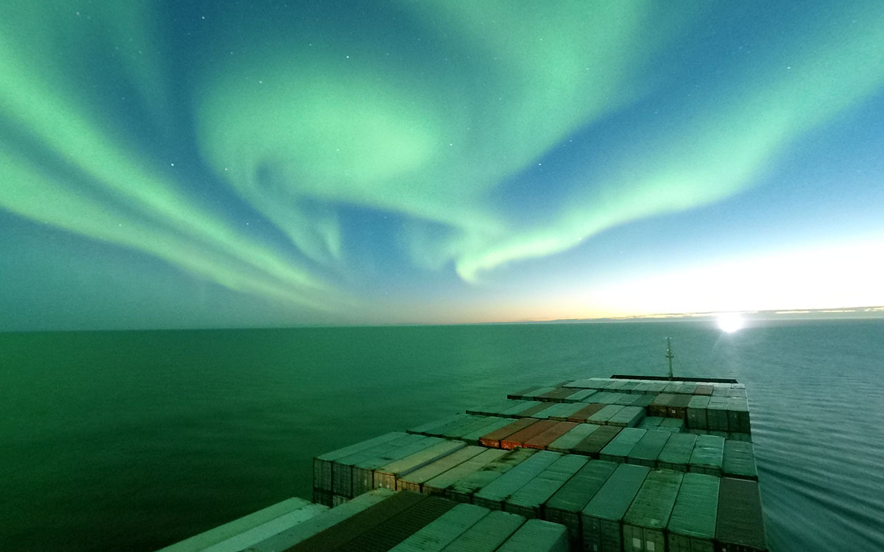 Galería: El viaje del Venta Maersk por el ártico