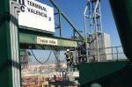 España: MSC Terminal Valencia incorpora columnas secas a sus grúas para facilitar acción de bomberos