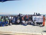 Puerto Mejillones, Puerto Angamos y Ultraport participan en Día Internacional de la Limpieza de Playas