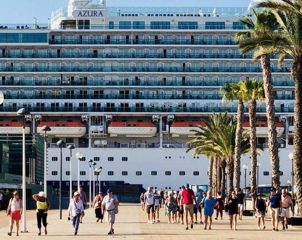Puertos españoles reciben 6,2 millones de cruceristas hasta agosto