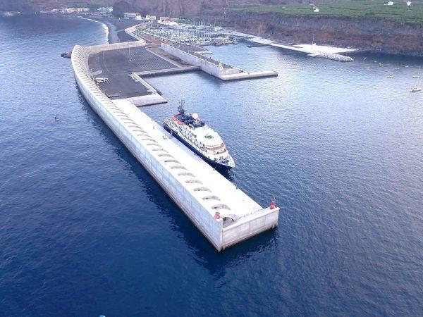 España: Puerto de Tazacorte recibe a su primer crucero después de 16 años