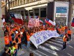 Portuarios movilizados de Valparaíso destacan apoyo de la Unión Portuaria