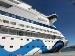 AIDAaura arriba a su homeport en San Antonio como parte de su crucero mundial