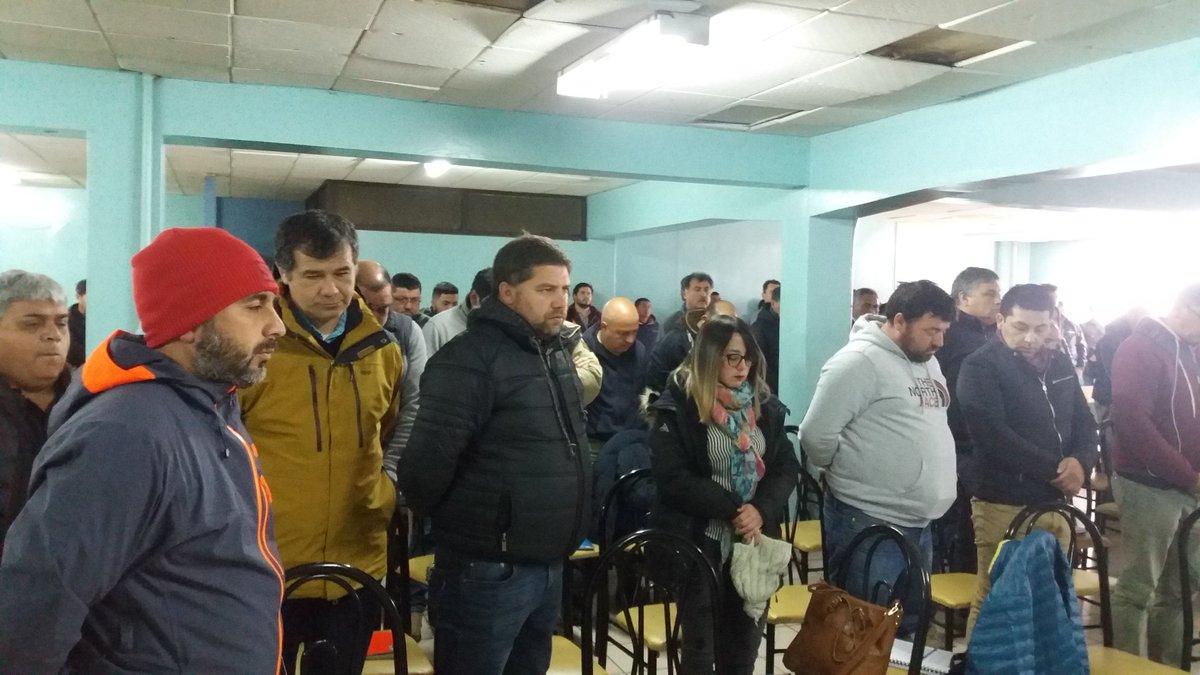 Minuto de Silencio en Congreso Nacional de la Unión Portuaria en Punta Arenas