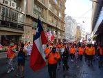 """Trabajadores Portuarios movilizados en Valparaíso realizan """"marcha familiar"""""""