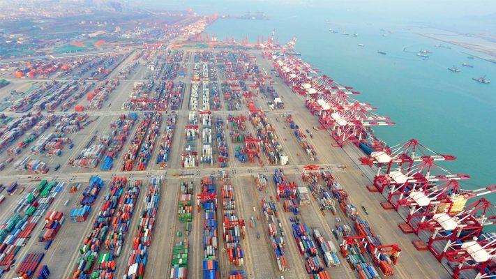 Principales puertos chinos reportan crecimiento en el manejo de contenedores