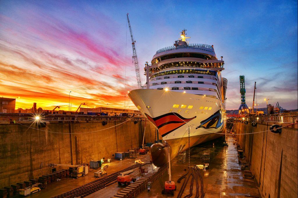 Crucero AIDAsol completa renovación tras paso por dique seco en Marsella