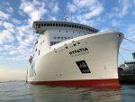Nuevo barco de Baleària recibe su primer suministro de GNL en Venecia