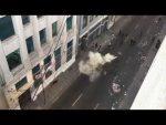 Video e imágenes: Manifestantes irrumpen en oficinas de Ultraport en Valparaíso