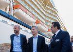 Argentina: Presidente Macri visita al crucero Celebrity Eclipse durante su paso por el Puerto de Buenos Aires