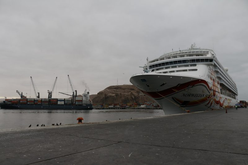 Norwegian Sun realiza escala en el Puerto de Arica