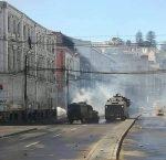 Portuarios retoman protestas callejeras en Valparaíso