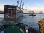 Países Bajos: Compuerta de la esclusa más grande del mundo arriba a IJmuiden