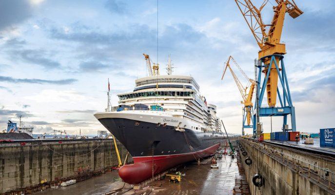 Francia: Queen Elizabeth completa reparación en Damen Shiprepair Brest