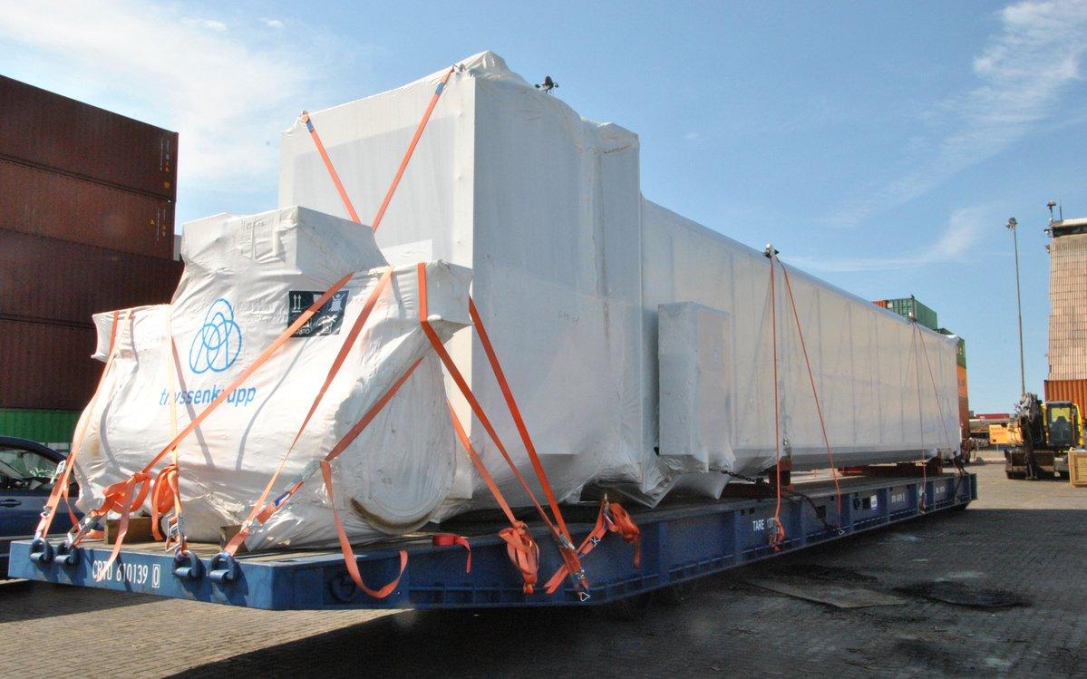 ITI descarga estructuras para aeropuerto de la ciudad boliviana de Santa Cruz de la Sierra