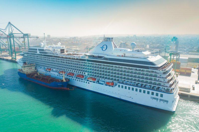 Así fue la primera recalada de cruceros del año en Puerto Central