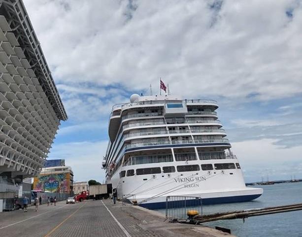 Brasil: Viking Sun realiza escala inaugural en Puerto de Salvador
