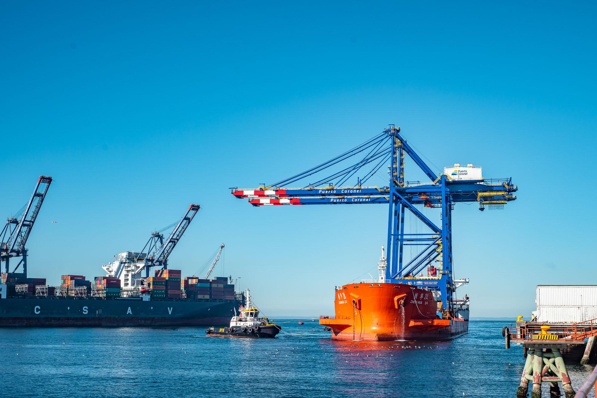 [Galería]: Puerto Coronel recibe dos nuevas grúas STS