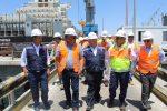 Ministro del Trabajo visita instalaciones de Puerto Angamos
