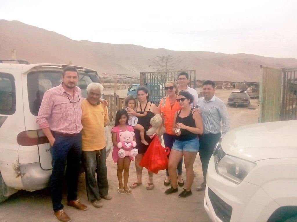 Sindicato Sesmatrans de Arica entrega ayuda a 20 familias tras aluvión en Acha