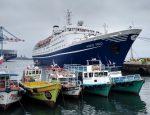 Puerto de Valparaíso recibe por primera vez al crucero Marco Polo