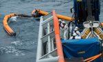 Detectan nuevo derrame de petróleo en sector donde se hundió el buque incendiado de Grimaldi