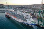 [Galería] Puerto Central recibe al crucero más grande de la temporada