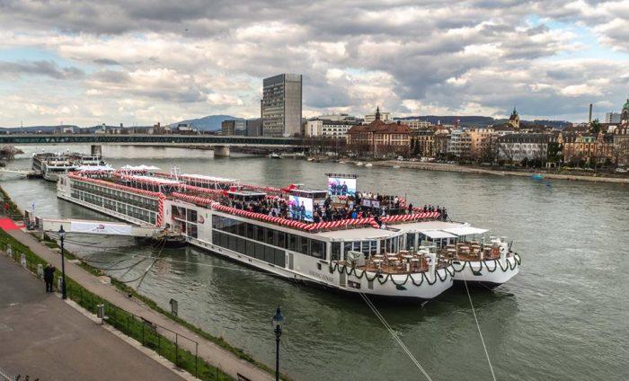 Siete cruceros bautizados en el Rhin