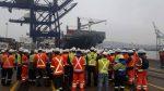 Portuarios realizan manifestaciones en distintos puertos en apoyo a estibadores de Quintero-Ventanas