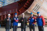 Celebran colocación de quilla de nuevo mega crucero de Royal Caribbean