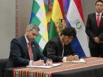 Presidentes de Paraguay y Bolivia firman amplio acuerdo que incluye potenciar navegación por la hidrovía