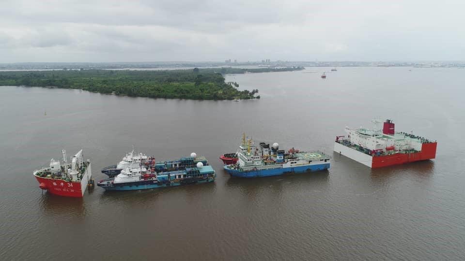 Costa de Marfil realizan carga de cuatro buques de investigación sísmica en Puerto de Abidjan