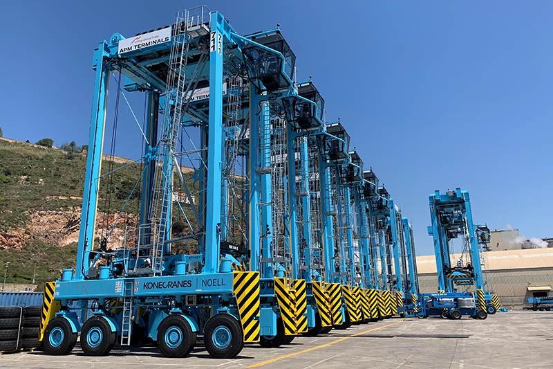 Michelin proveerá neumáticos para cuatro terminales de APM Terminals en España